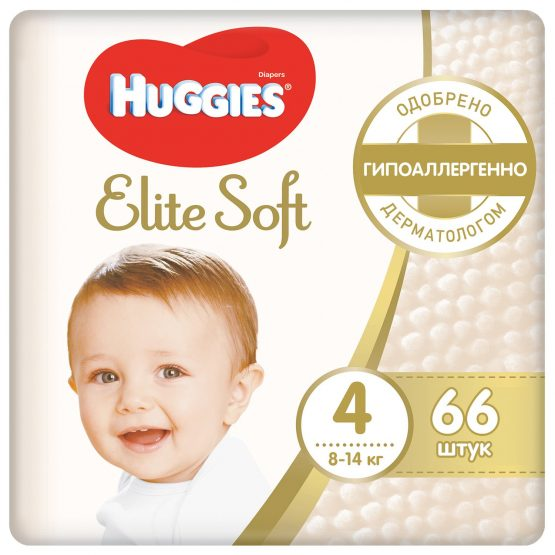 Huggies Elite Soft 4 — 66