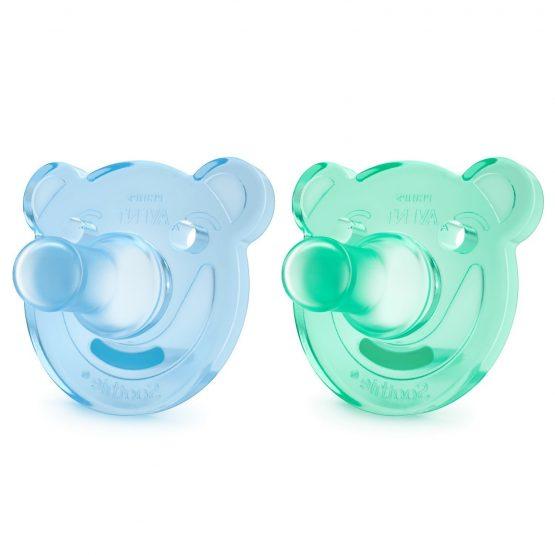 Ծծակ Philips Avent Soothie 0-3 — blue/green