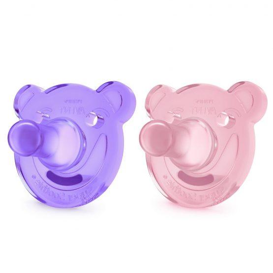 Ծծակ Philips Avent Soothie 0-3 — purple/pink