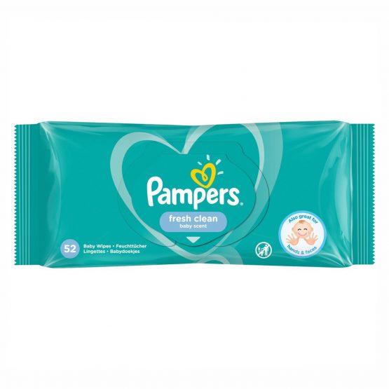 Pampers Fresh Clean — Խոնավ Անձեռոցիկներ 52 Հատ