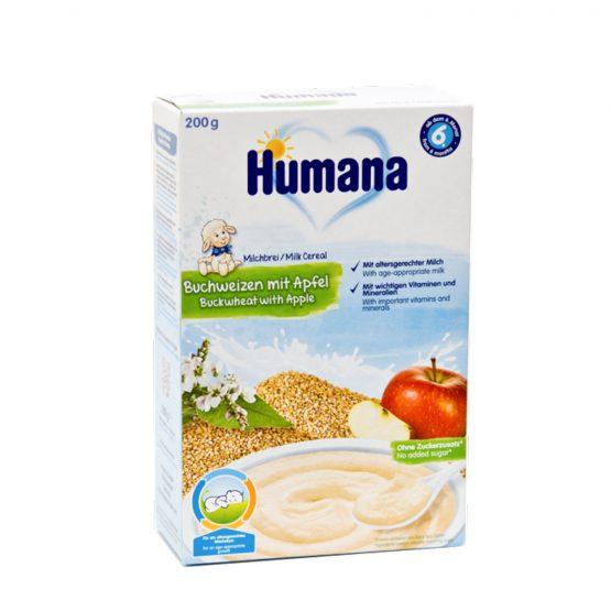 Humana — Կաթնային Շիլա Հնդկաձավարով և խնձորով 200գ